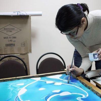 Мастер-класс по росписи платка (батик)