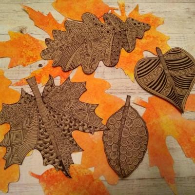 Золотая осень в стиле зентангл