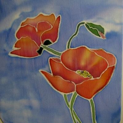 Картина на шёлке (батик)