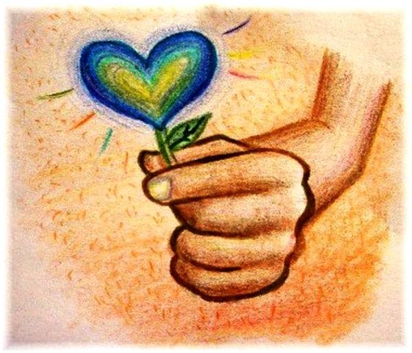 сердце рисунок добротой в с на тему