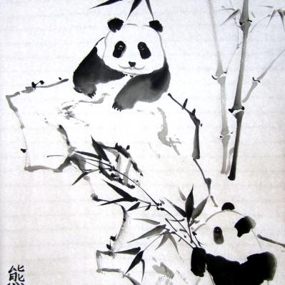 Панда и бамбук. Мастер-класс по китайской живописи
