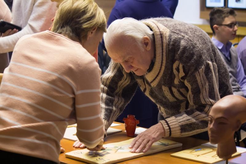 Открытие выставки «Вечная мудрость Древнего Египта» в Российской государственной библиотеке для слепых